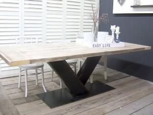 steigerhout in de woonkamer tafel
