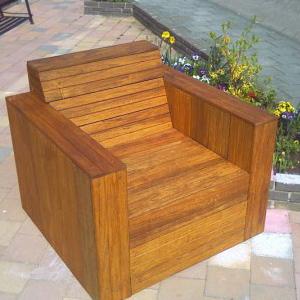 Bouwtekening Hardhout Loungestoel