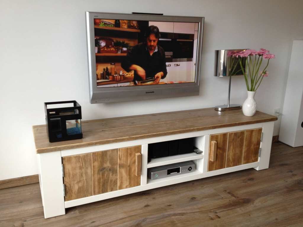 steigerhouten in de woonkamer tv meubel. Black Bedroom Furniture Sets. Home Design Ideas